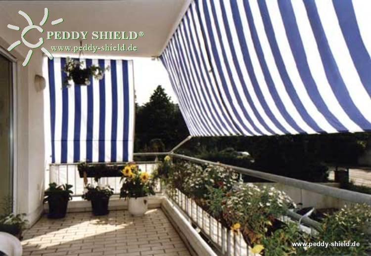 Zeil Voor Balkon : Verkoopverpakking compleet spandraadpakket balkon ii blauw wit