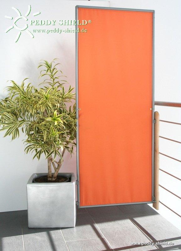 1 paneel windvaste opvouwbare paravent terracotta oranje. Black Bedroom Furniture Sets. Home Design Ideas